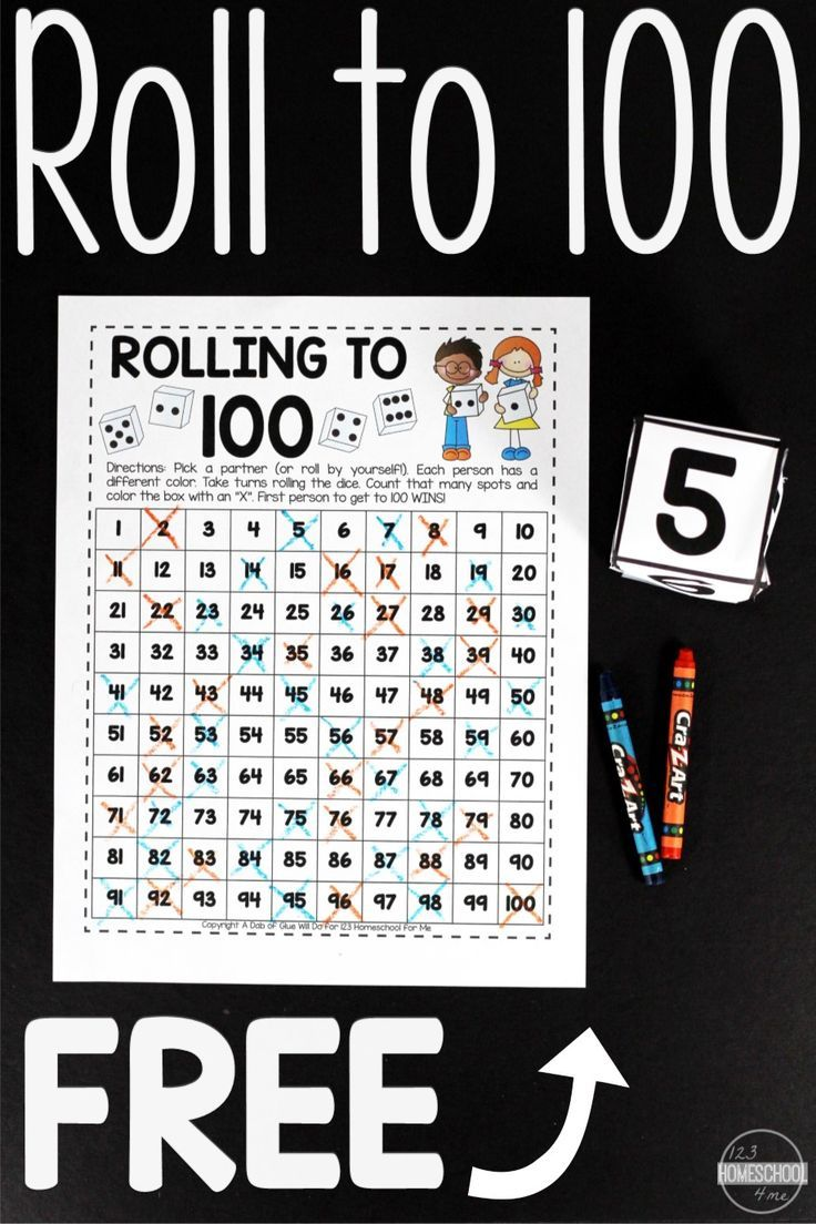 Free Roll To 100 Math Game Kindergarten Math Games Kindergarten Math Activities Counting To 100 [ 1104 x 736 Pixel ]