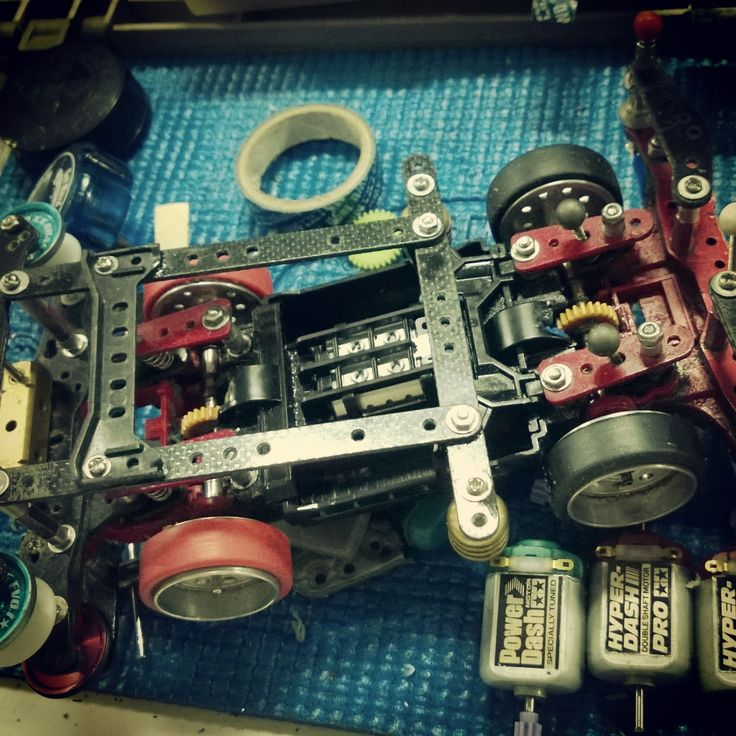 Inner Type Suspension Using it during Mini 4WD Indonesia Cup Race 7 and made it to third round.