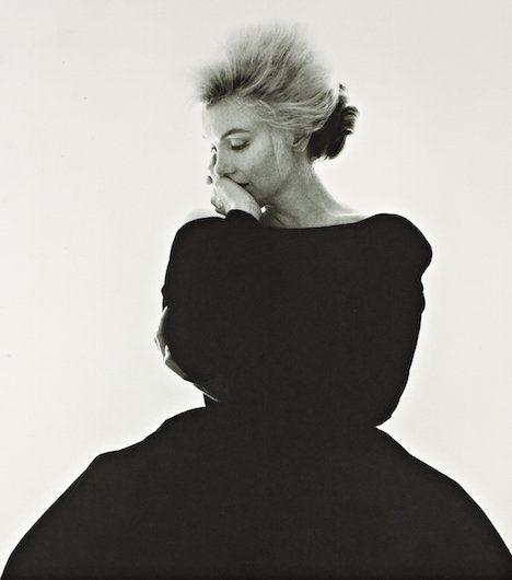"Posing for Bert Stern six weeks before her death.Monroe died on August 5, 1962, at the age of 36. Her death certificate lists ""acute barbiturate poisoning"" as the cause."