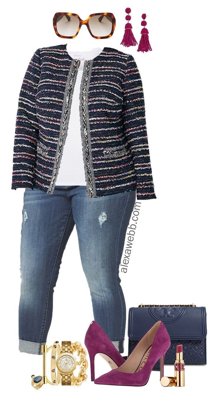 Plus Size Tweed Jacket Outfit 5
