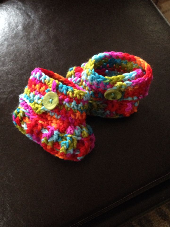 Multi-coloured booties March 2015