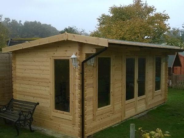 Procas Log Cabin | 44mm Garden Log Cabins