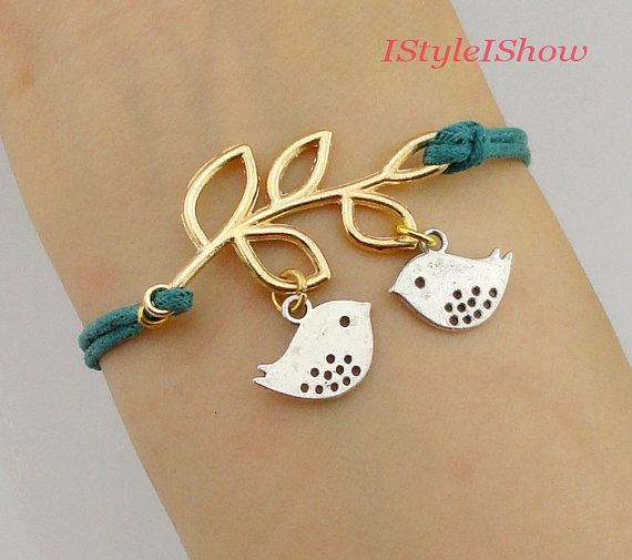 Branch and bird bracelet, tree and bird,god's gift,antique golden tree, friendship gift, gift to bestfriend on Etsy