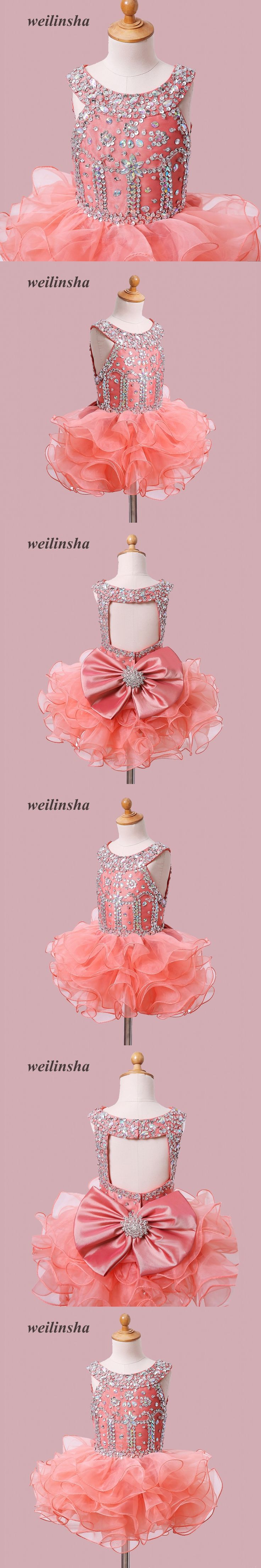 weilinsha Flower Girls Dresses for Wedding Kids Pageant Dress First Communion Dresses for Little Baby Party Prom Dress 2017
