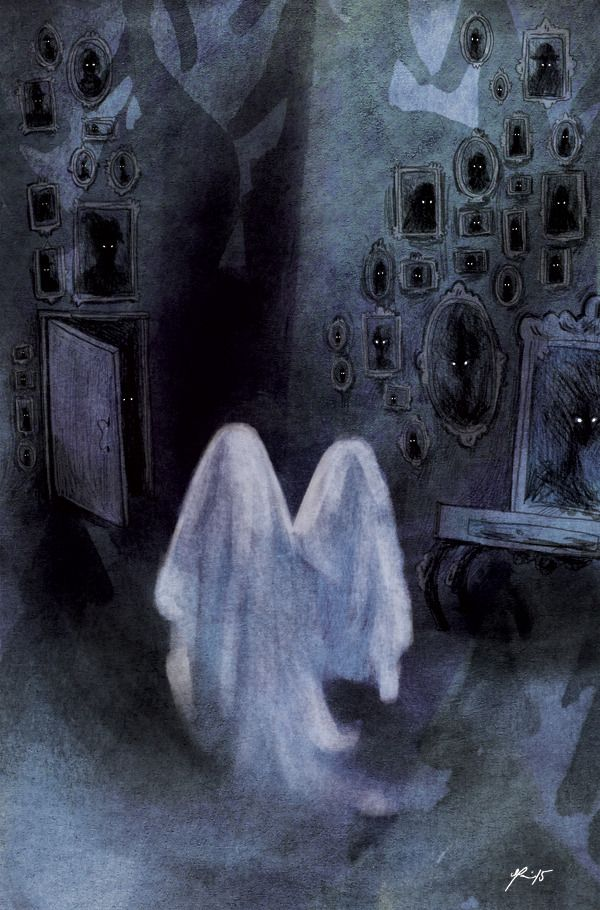 Two little ghosts by Mari Ahokoivu 2015
