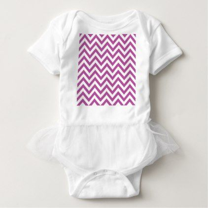 Magenta Purple Chevron Pattern Baby Bodysuit - stylish gifts unique cool diy customize