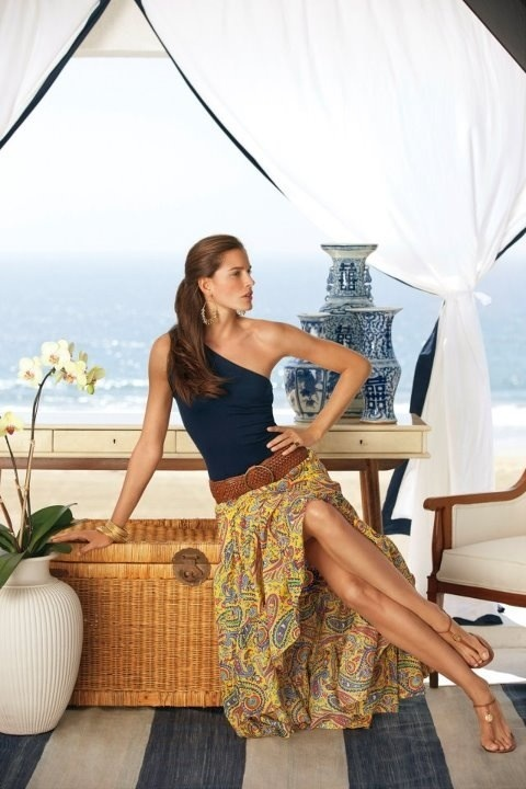 From Timeless Essntials by Ralph Lauren. Love the skirt.