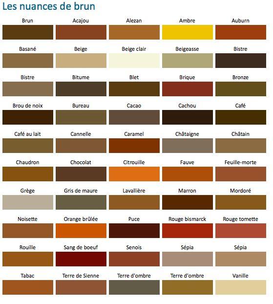 Nuance de brun colors pinterest - Nuance de gris peinture ...