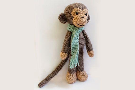PATRÓN: Mono mono-patrón de Amigurumi Crochet punto por Anatillea