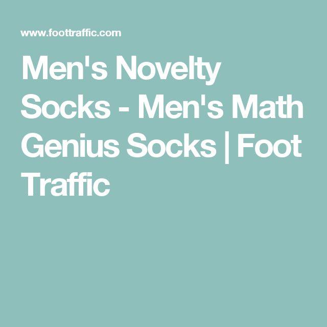 Men's Novelty Socks - Men's Math Genius Socks | Foot Traffic