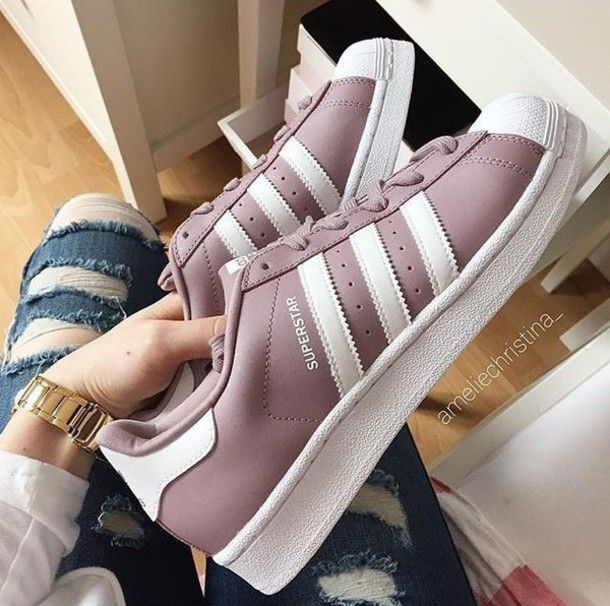 Women Adidas Superstar White Copper Rose Gold Shell Toe