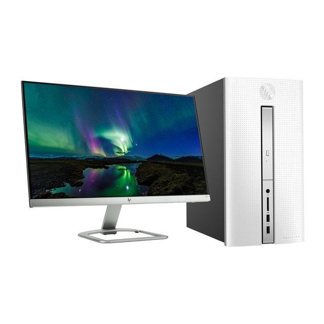 Hp Ordenador Sobremesa Hp Pavilion Desktop 510 P118ns Amd Quad Core A10 9700 Con Monitor Reacondicionado Grado C Hp Pavilion Ordenador Reacondicionado