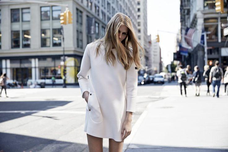 LOOKAST CHAPTER #5 - 2014 fall winter in New York_White neoprene dress