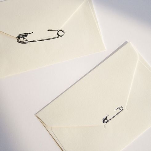 seal letters with a safety pin stamp