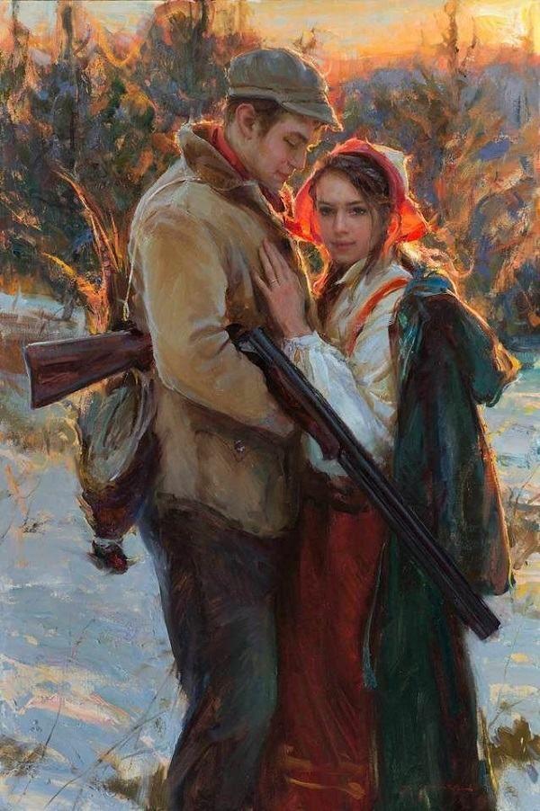 pinturas românticas- A volta para casa.                                                                                                                                                                                 Mais