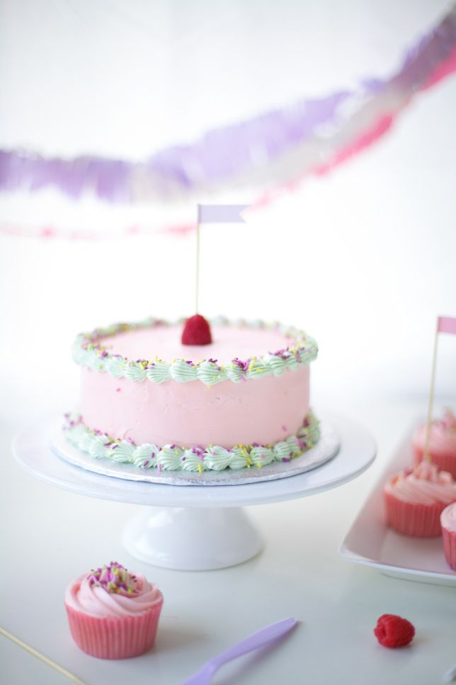 raspberry pink birthday cake