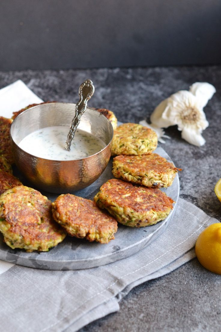 Courgette and Feta Fritters.
