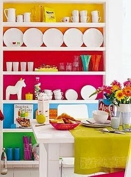 Colorful painted furniture image via Celebrating Life on Facebook at www.facebook.com/CelebratingLifeNow