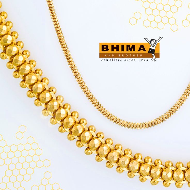 Wearing #jewelry is a way to express the #woman you are without saying a word. #chain #22k #pendent #gold #precious Bhima & Brother Jewellers