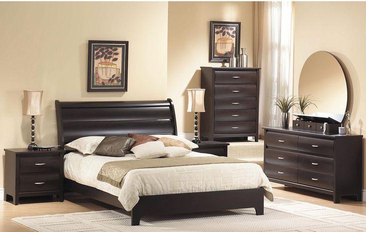 Bedroom Furniture - Mocha Queen Panel Bed