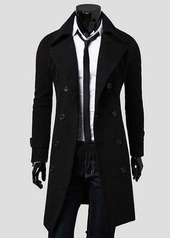 Hot Sale Men Double Breasted Woolen Coat – teeteecee - fashion in style