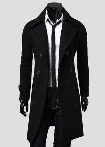 Hot Sale Men Double Breasted Woolen Coat – teeteecee - fashion in style