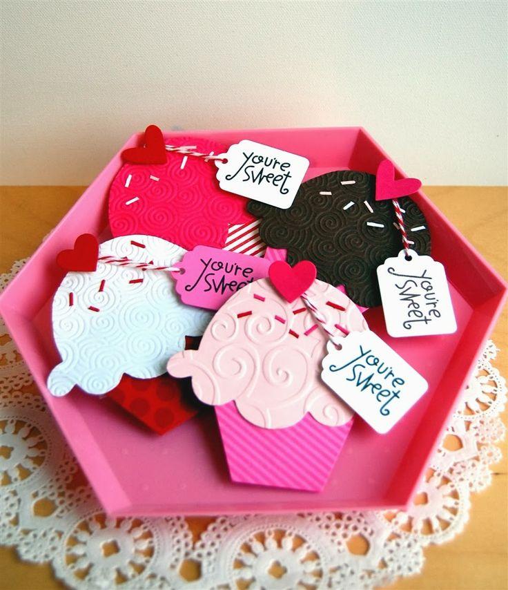 52 best images about Cupcake klas – Cupcake Valentine Card