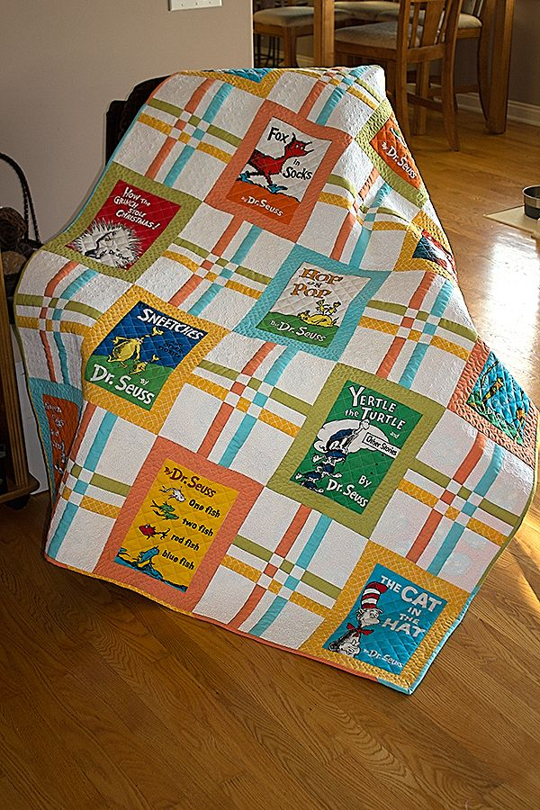 I ran across the latest Celebrate Seuss at my favorite local quilt shop and just knew I had to have it! Since I'm a shade older than average-age Seuss fans, it seemed more appropriate to use it for…