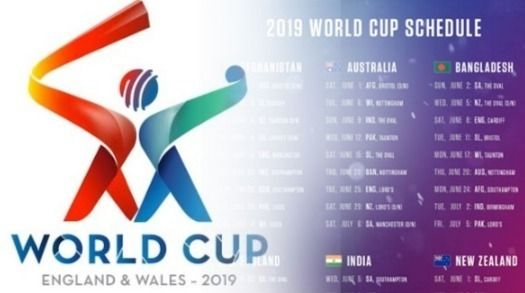 Pick the world cup fixture 2019 cricket groups cricbuzz