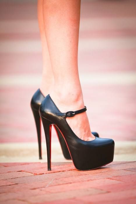 LOVE classic black mary jane [my signature shoe] with a little edge-- · Hot  High HeelsCute ...