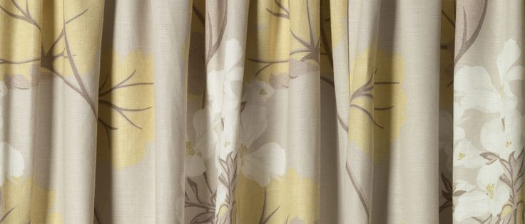 Millwood Camomile Ready Made Curtains at Laura Ashley