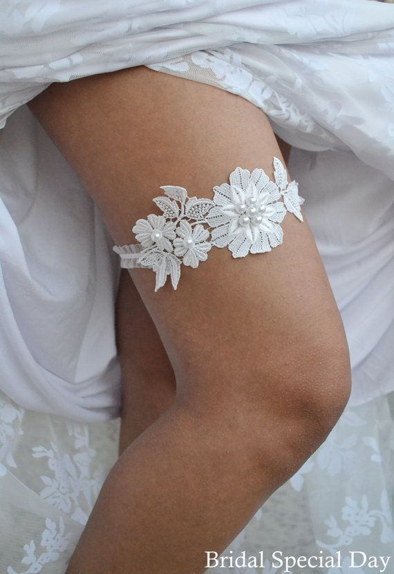 Black Lace Wedding Garter Handknitted With Grey Faceted Crystals