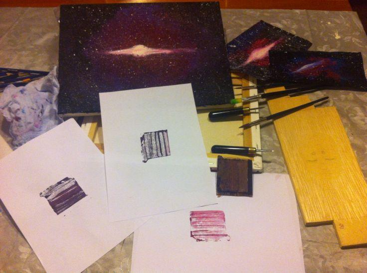 #galaxy #stampa  #bored #stampe #prove #imprimir #galaxias #galassia #stars #sgorbie #art #face #japan #boy #print #xilografia #xylography #wood #SHI