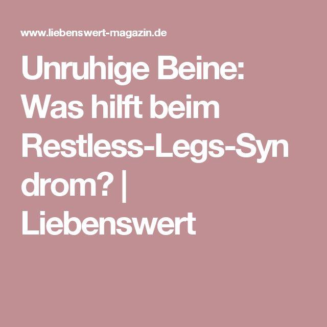 Unruhige Beine: Was hilft beim Restless-Legs-Syndrom? | Liebenswert