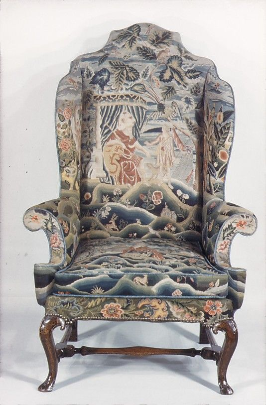 Early 18th century British Wing chair at the Metropolitan Museum of Art, New York