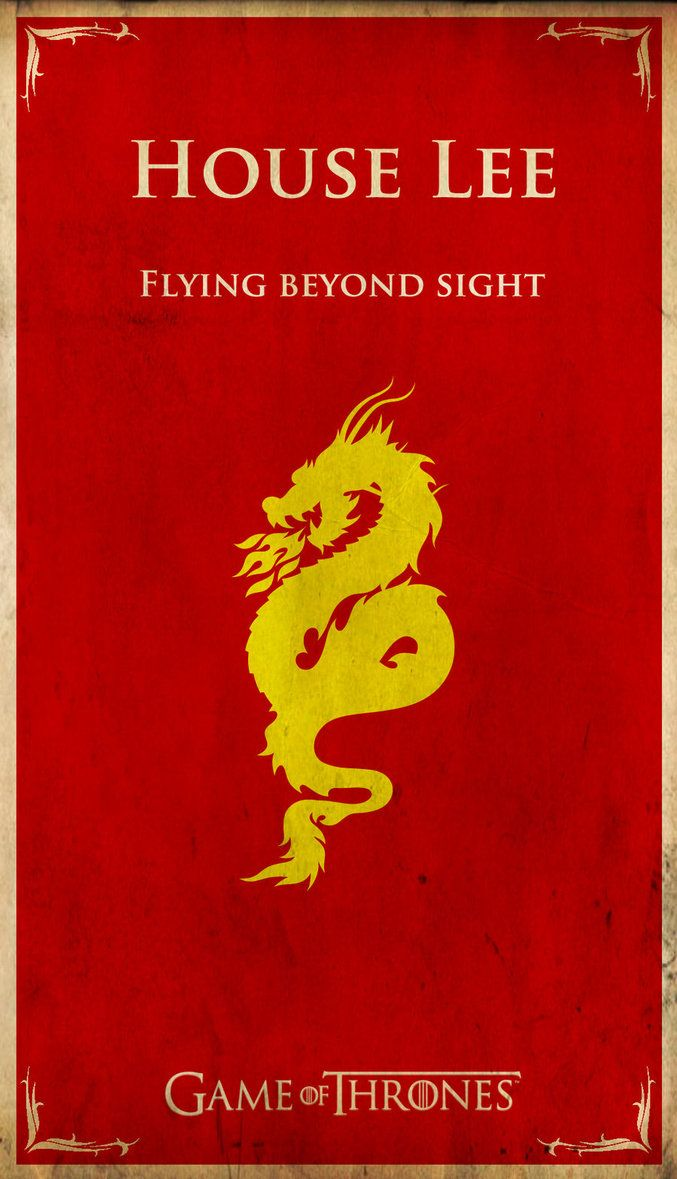FAMOUS POP-CULTURE CHARACTERS GET THEIR OWN GAME OF THRONES HOUSE SIGILS: Lee