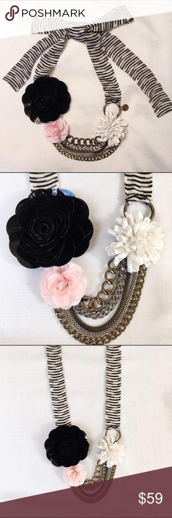 M Missoni crochet necklace. Like new M Missoni crochet and flower necklace. M by Missoni Jewelry Necklaces