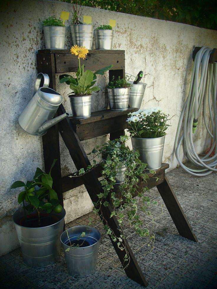 Garden Pallet Ladder  #Europallets, #Garden, #Pallets