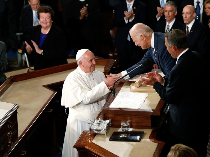 pope congress biden