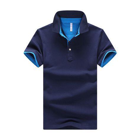 Blue/Orange 2017 Summer Mens Polo Shirt $29.98
