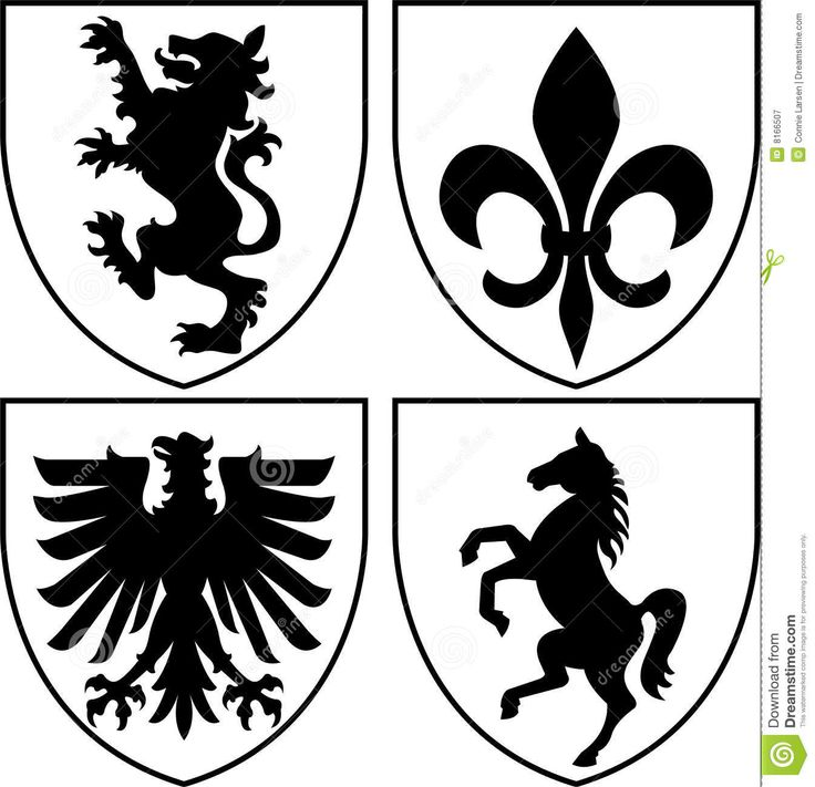 heraldic crestscoat of arms eps royalty free stock