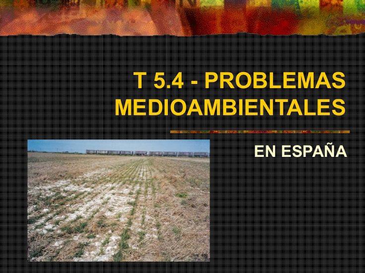 Principales problemas medioambientales en España. Tema para Geografía de 2º de Bachillerato