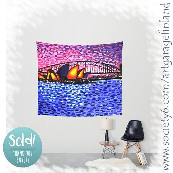 Sold!..thanks to the kind person who bought this 'Sydney Harbour' tapestry design from my Society6 webstore. @society6 Product link: https://society6.com/product/sydney-harbour-87a_tapestry#s6-2204016p42a55v412  #aussie #art #s6tapestry #sydneyoperahouse #sydneyharbour #oz #alanhogan #artist #artistsofinstagram #sydney #nagohnala #hoganfinland #dots #australia #konst #taide #wallart #arte #kunst #artcollection #artcollectors #gallery #society6 #homedecor #interiordesign