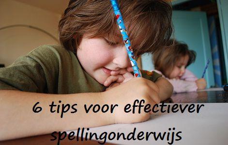 Tips voor spellingsonderwijs