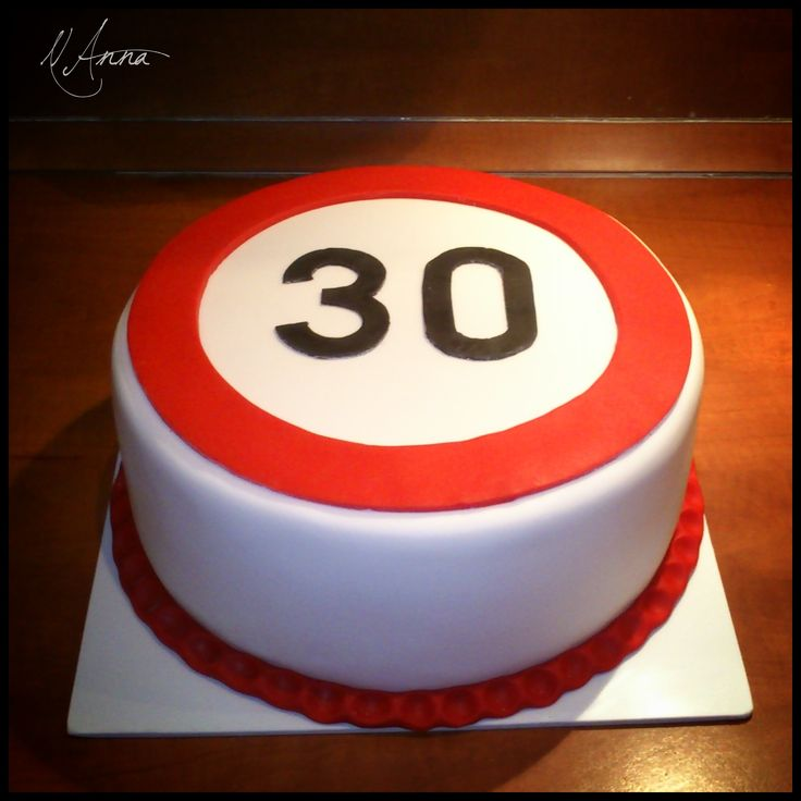 Cakes With Speed Limit Signs