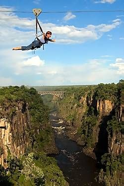 Flying Fox Zip Line, Victoria Falls (This was so fun!)