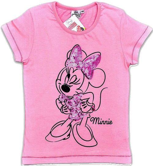 Nové - Růžové tričko s Minnie zn. Disney | Brumla.cz