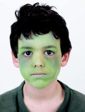 Frankenstein face paint - Frankenstein face paint step 4: for the mouth - goodtoknow