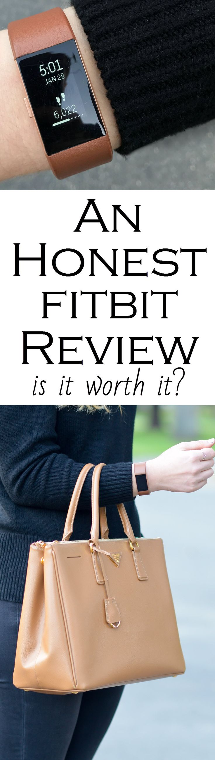 An Honest Fitbit Review. Is it really worth it? Read the positives and negatives about having a Charge 2 Fitbit. Is it worth the price? Has my body changed? The answer may surprise you!   (Outfit Photos - Brown Leather Band)