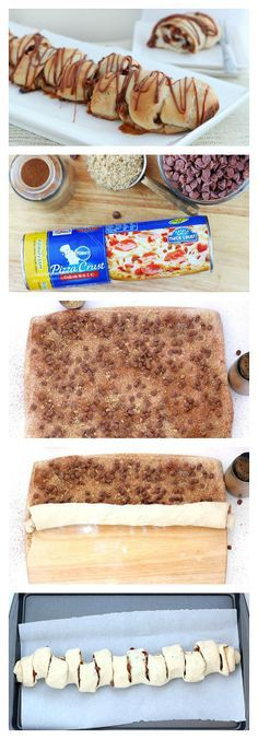 Cinnamon Pull-Apart Bread for breakfast is made with pizza crust!